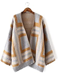 Ladies Nueva elegante Cardigan Sweater Coat