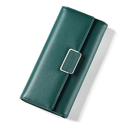 Elegent Donne Borsa IHRKleid® In pelle Sacchetto dei soldi Sweet Portafoglio (Oro) Verde scuro