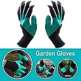 Doppel Claw Garten Handschuhe, Garten Genie Handschuhe mit Krallen auf jeder Hand für Graben & Pflanzen