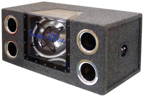 Pyramid BNPS102 Lautsprecher-System (Bandpass-System, zwei Subwoofer, Neonakzentbeleuchtung, 30,5cm, 1.200W) -
