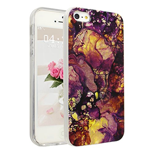 Handyhülle iPhone 6 Marmor, Asnlove Silkon iPhone 6S Marble Hülle Silicone TPU mit IMD Schale Case Cover Tasche Schutzhülle für Apple iPhone 6 6s 4.7 Inch, Rose Color-4