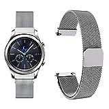 Fullmosa 20mm Bracelet de Montre Milanais Compatible avec Huawei Watch 2/Moto 360 2nd Gen/Pebble Time/Samsung Gear S2 Classic, Argent