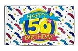 Flagge Happy Birthday 50 - 90 x 150 cm