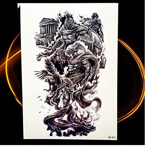 ruofengpuzi Exquisite Körper zurück Kunst wasserdichte Tätowierung chinesischen Drachen Phoenix Design Männer und Frauen temporäre Tätowierung Aufkleber Unterarm (Mädchen Mit Drachen-tattoo-halloween-kostüm)