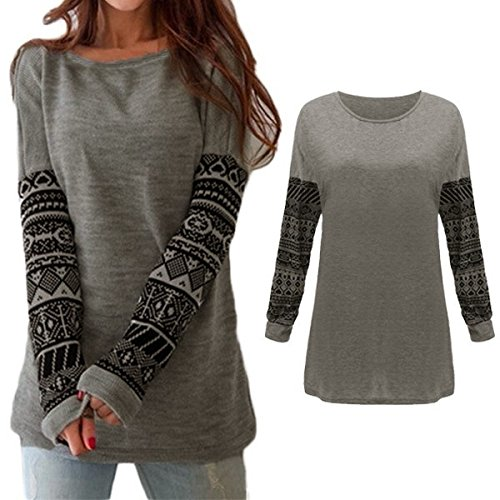 156be627553915 Soar fly Wangsoar Ladies Fashion Long Sleeve Casual Loose Sexy Ladies  T-Shirt Tops Blouse