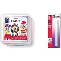 Staedtler FIMO Soft, Pack de 26 pains de pâte à modeler FIMO, À cuire au four pour tout type de réalisations, 8023 50 LX…