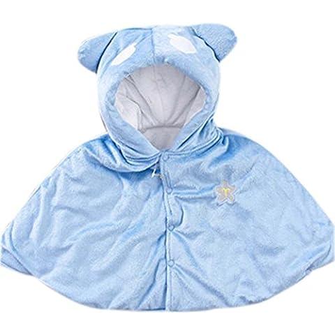 bebé Cloak Mantón Baby Blankets doce constelaciones bebé Cloak Libra azul