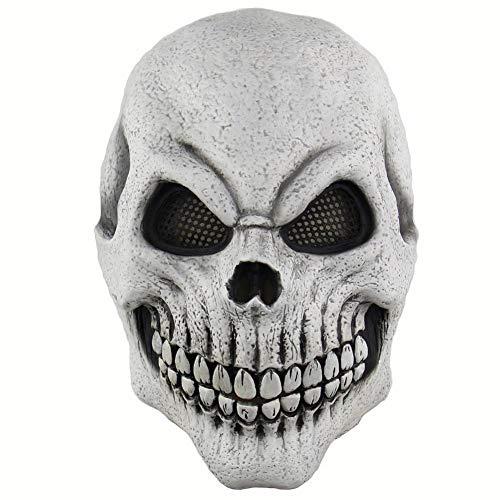 RYTHN Maske Halloween Scary Maske kostüm für männer Frauen Kinder Deluxe Overhead Maske weiße Maske Morris Studios männer Tod schädel Knochen vollmaske -