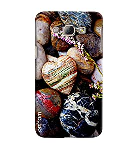 Omnam Heart With Stones Effect Printed Designer Back Cover Case For Samsung Galaxy A8