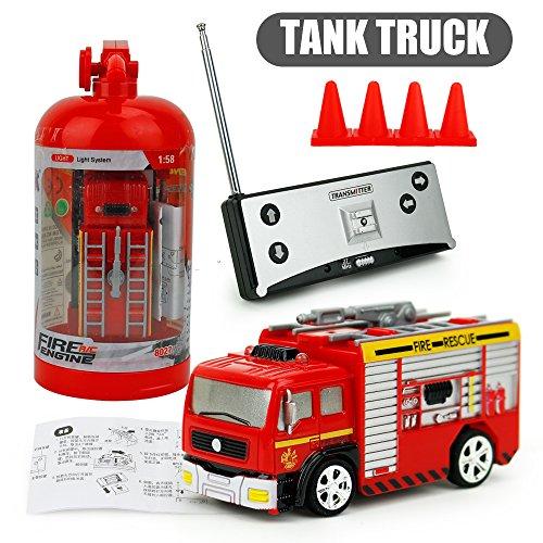 EisEyen Plattenspieler Ladder Truck Mini Remote Control Fire Truck Kinderspielzeug für die Früherziehung (Ladder Fire Truck Spielzeug)