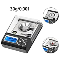 0.001 g de precisión joyería Digital electrónica Balance 0.001 g visualización LCD ...