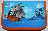 Astuccio-astuccio pirati nave pirata, imbottito per l' inizio della scuola con un chiusura lampo ideale anche per la Vorschule im Kindergarten