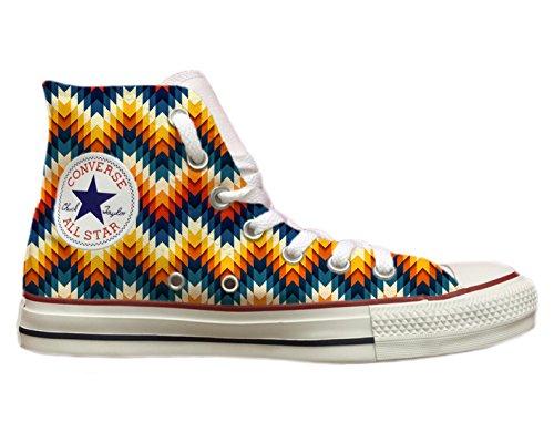 """Converse all star personnalisées avec impression géométrique Multicolore """" Multicolore"""