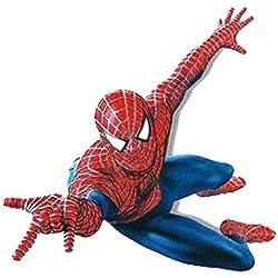 Winhappyhome Spider-Man para niños engomadas de la pared de la historieta para el fondo Habitación Sala extraíbles Mural Dibujos Decoración Adhesivos
