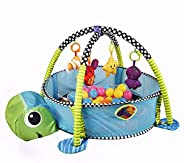 Baby Activity Gym Play Mat & Ball Pit with Mesh Sides (Torto