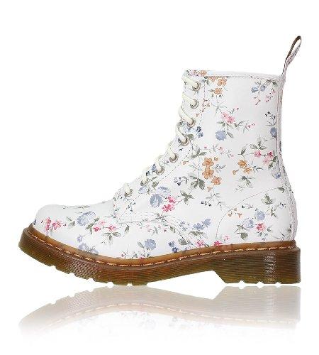 Dr. Martens 1460, Unisex-Erwachsene Stiefel Weiß (Blanc)