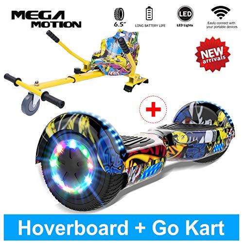 Mega Motion Buntes LED-Licht mit Musik-Sprecher für Kinder und Erwachsenen Self Balance Scooter (HIP HOP+HIP HOP Kart)