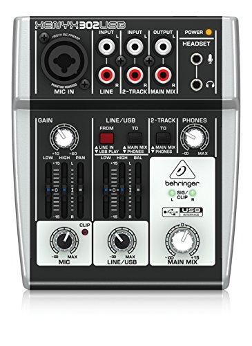 Behringer XENYX 302USB Mischpult für Live, Karaoke, Studio ECC...