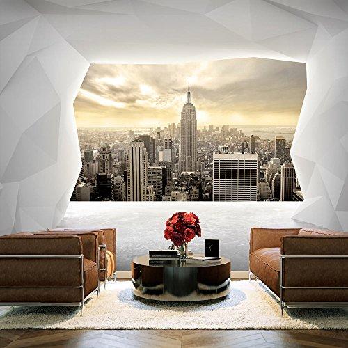 murando – Papier peint intissé 300x210 cm – Trompe l oeil – Tableaux muraux déco XXL – villes New York d-C-0009-a-b