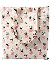 MKXI® Damen Schultertasche Canvas Gedruckt Umhängetasche Handtasche Shopper Tragetasche Einkaufstasche