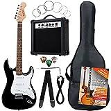 Rocktile Pack guitarra eléctrica Banger 7 piezas, negro