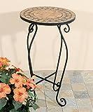 Marokkanischer Tisch rund Mosaiktisch Balkontisch Gartentisch Dekotisch tarrakotta