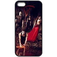 Vampire Diaries Saison F4Q76F2JA coque iPhone 4 4s de couverture de cas coque Q861MP noir