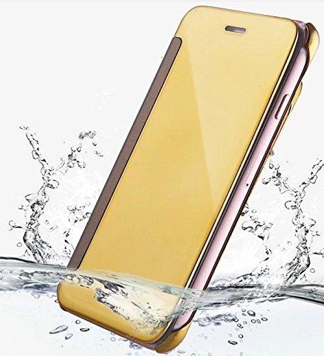 iPhone 7 Coque cas de secousse Pacyer® Housse protection Clip translucide Protection Case pour Apple iPhone 7 flip cover view Case PC Cover Rose
