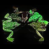 Zantec 5 Stücke 5 cm/12g Weichen Köder Frosch Angelköder Crankbaits für Bass Snakehead 5 Farben gemischt