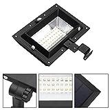 Gugutogo Solar Power 30 LED PIR Bewegungssensor Wandleuchte Wasserdicht Super Helle Dach Zaun Licht für Outdoor Garten Hof (Farbe: schwarz)