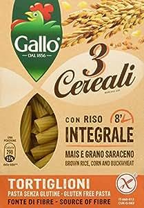 Riso Gallo Tortiglioni 3 Cereali con Riso Integrale, Mais e Grano Saraceno - Confezione da 250 gr