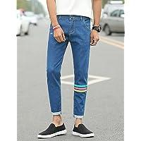 YYNANKU TT&MEN'S PANTS Männer sind normal in der Mitte>75% Jeans Hosen, Vintage feste Baumwolle Leinen Bambusfaser Acryl Frühling, 27