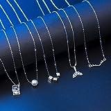 Czemo Collar de Mujer de Hecha a Mano Conjunto de 5 Piezas Gargantilla de Perlas Collar de Circón, Collar de Astas Collar con Colgante de Cola Colgante Cuadrado Cadena