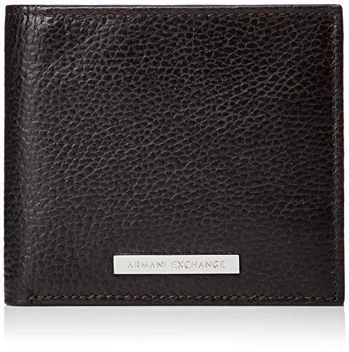 Armani exchange logo coin case - portafogli uomo, marrone (dark brown), 9.8000000000000007x2.5x11.3 cm (b x h t)