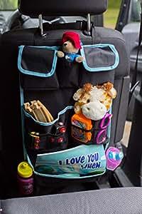 *CLEARANCE SALE* Best Premium Kids Car Back Seat Organiser | Easy Installation | Multiple Big Pockets | Detachable Pocket | Ideal Gift | 100% Infinity Guarantee |