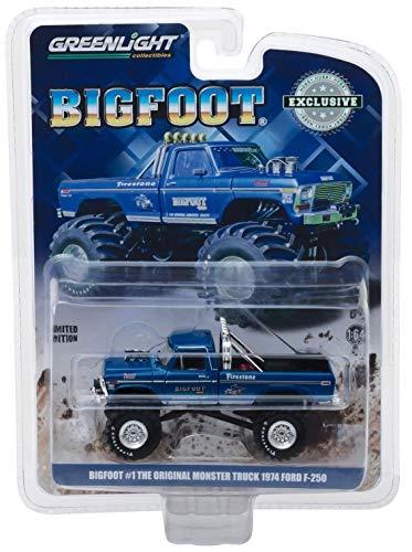Greenlight 1974 Ford f-250 Original Monster Truck Bigfoot #1 Hobby 1:64