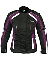 RKSports 252 Ladies Waterproof Textile Motorcycle Motorbike Pink Grey Jacket