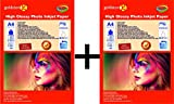 Gocolor High Glossy Inkjet Photo Paper 240Gsm A4 20 Sheets x 2 pack combo