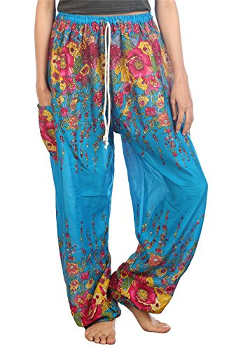 Lofbaz Mujer Cordón Floral 1 Harén Boho Pantalones