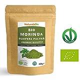 Moringa Oleifera Bio Pulver [ Premium-Qualität ] 400g | Organic Moringa Powder, Original und Rein | Blätter des Moringa Oleifera Baum | Superfood Reich an Antioxidantien und Nährstoffen | Ideal für Tee, Saft, salzige und süße Rezepte oder in der Milch | 100% Vegan und Vegetatisch | NATURALEBIO