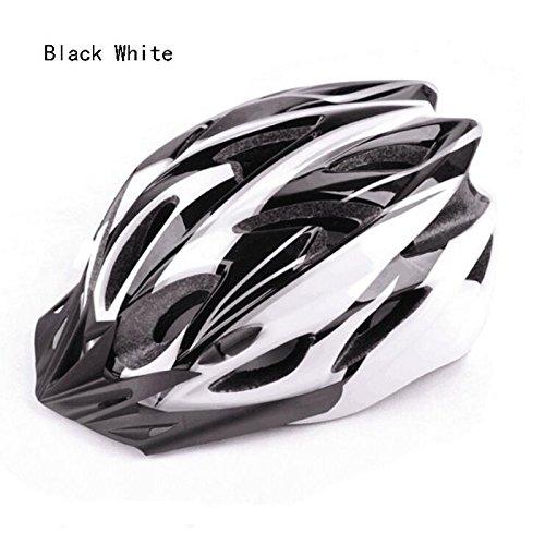 TOYM UK Radfahren Fahrrad Rennrad Einteiliger männlicher und weiblicher Reithelm ( Farbe : White+black )