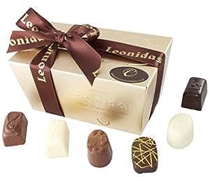 Gluten Free Chocolate Gift Box Assortment, Luxury Leonidas Belgian Chocolates, 14 Fresh Milk, Dark & White Chocolates (210g)