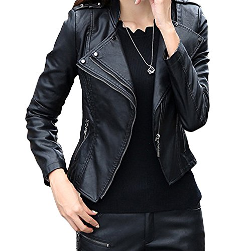 Ladies faux leather jackets uk