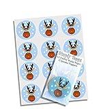 12 Rudolph Rentier Weihnachten reis papier cupcake deckel 40mm kuchen dekoration