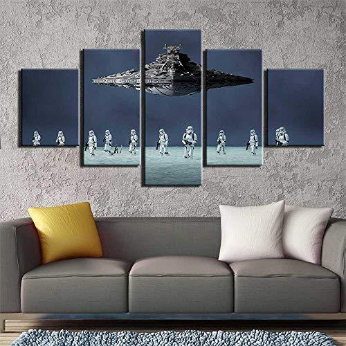 Yyjyxd 5 stücke leinwand wandkunst malerei MovieDestroyer Bild wandbilder für wohnzimmer poster und drucke Kunstwerk-8 x 14/18/22inch,Without frame (Movie Full 8 Halloween)