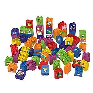 BIOBUDDI Learning to Build 60 pcs 60pieza(s) - Bloques de construcción de Juguete (Multicolor, 60 Pieza(s), Plaza, Imagen, Preescolar, Niño/niña)