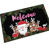 Gnzoe Flanell Teppich Weihnachten Karikatur Schneemann Muster Design Teppiche für Wohnzimmer Schlafzimmer Bunt 45x70CM