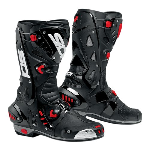 Sidi Vortice Motorbike Motorcycle Scooter Sports On/ Off Road Racing boots, Black/Black - Black - EC 43