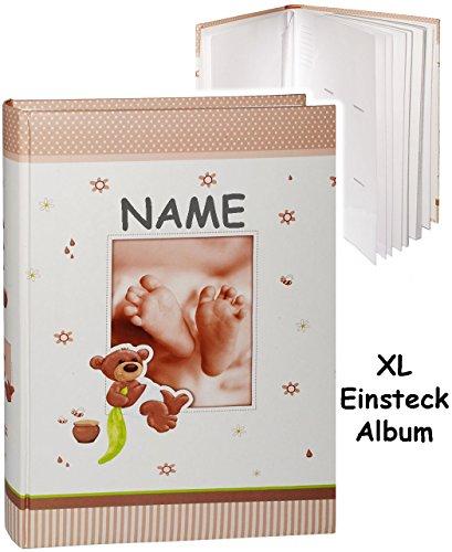 xl-grosses-einsteckalbum-memoalbum-fotoalbum-susser-teddy-bar-babyfusse-incl-name-bis-zu-300-bilder-