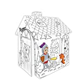 TikTakToo Spielhaus aus Pappe Ritter Pappspielhaus zum Bemalen Haus Spielzeug Karton